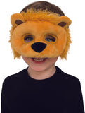 Childs Lion Plush Animal Costume Mask