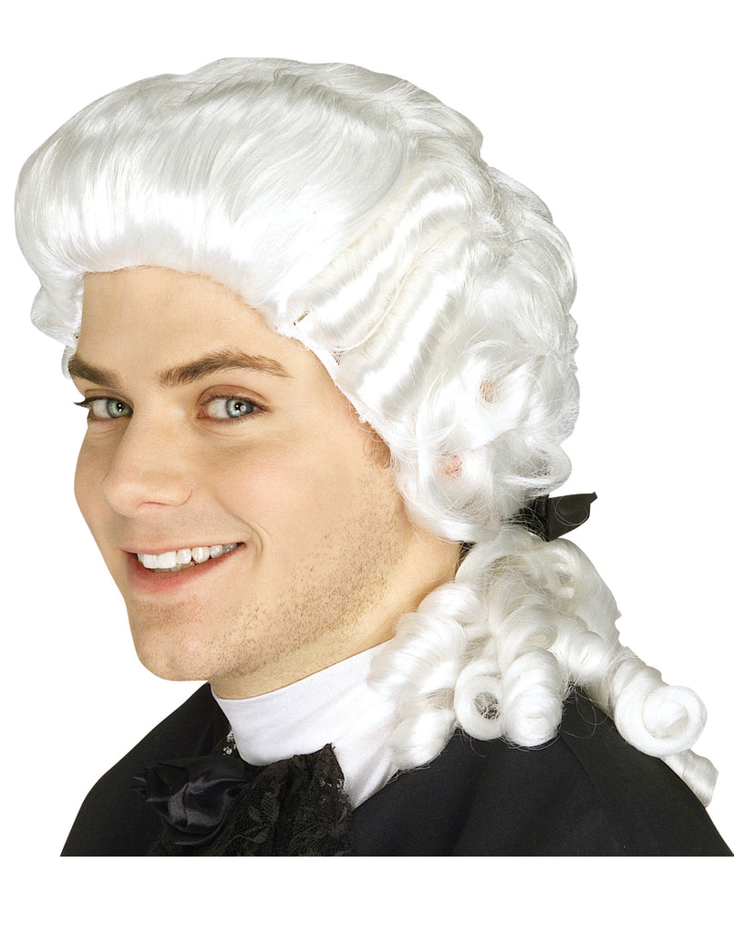 20th Century White Colonial Man Wig