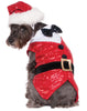 Sequin Santa Claus Pet Christmas Outfit