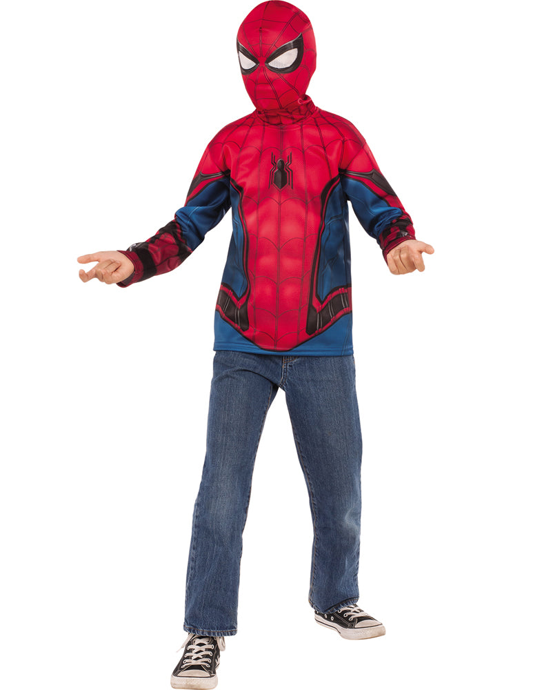 Spiderman Homecoming Boys Spiderman Costume Top