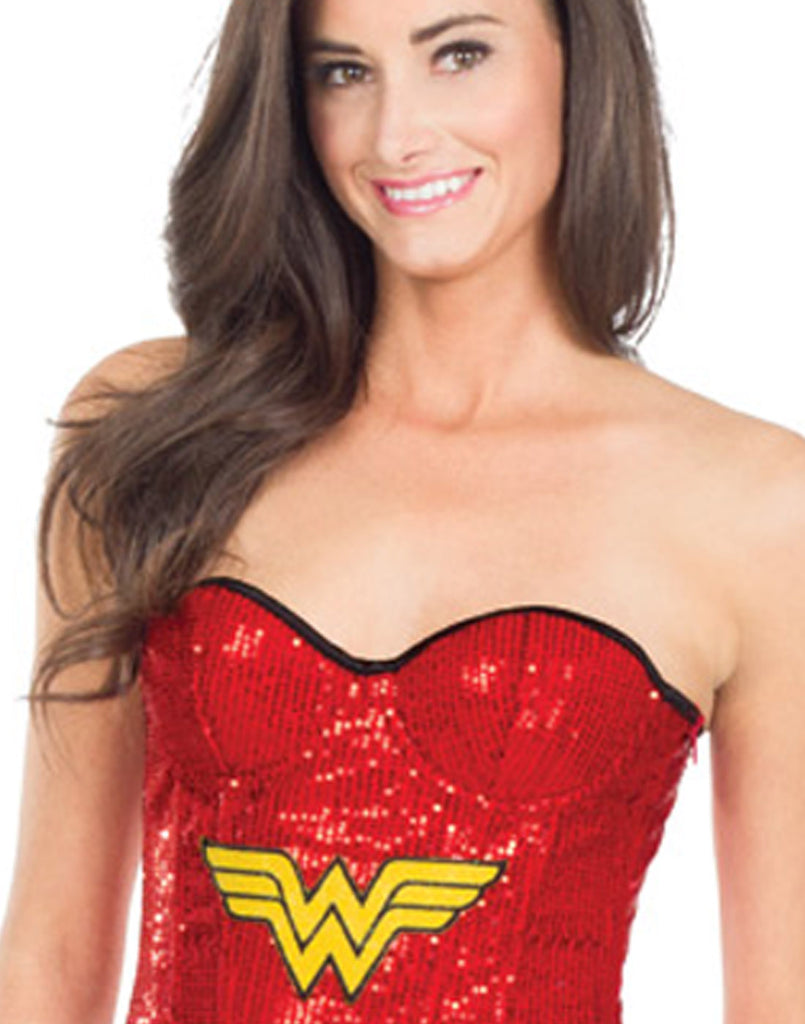 Wonder Woman Red Sequin Corset