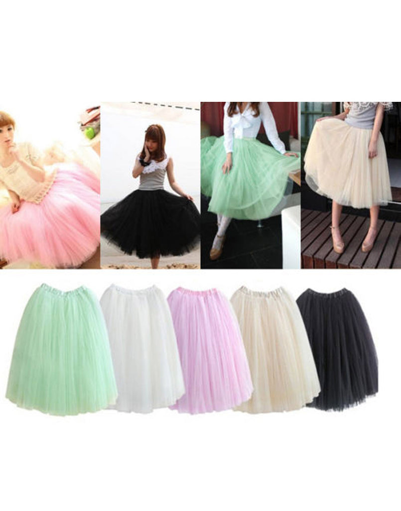 Long Tulle Petticoat Tutu Skirt