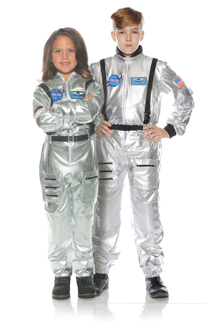 Astronaut Silver Child Space Explorer Costume