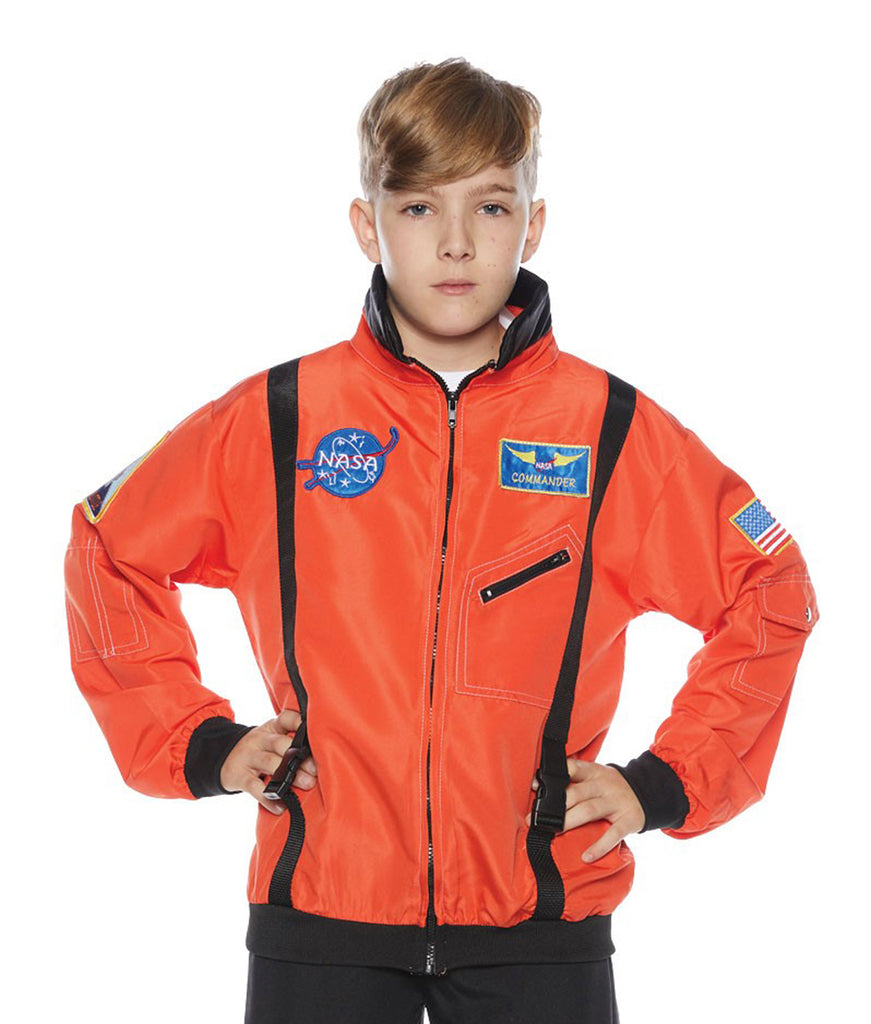 Astronaut Orange Child Costume Jacket