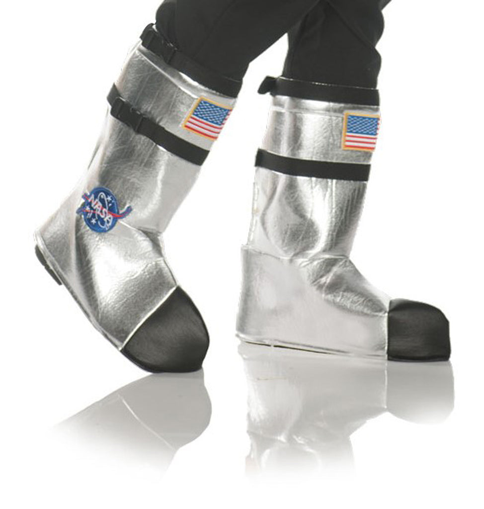 Astronaut Silver Child Costume Boot Tops
