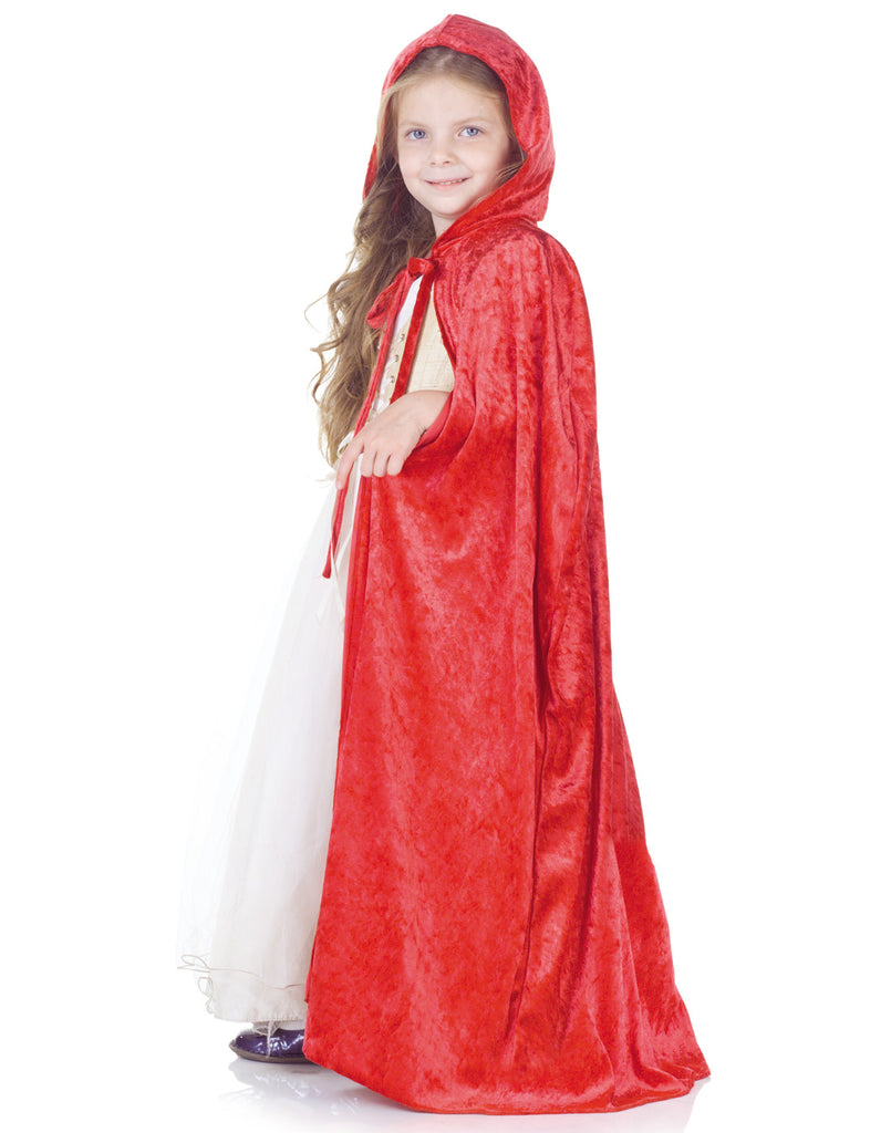 Red Panne Girls Child Cape