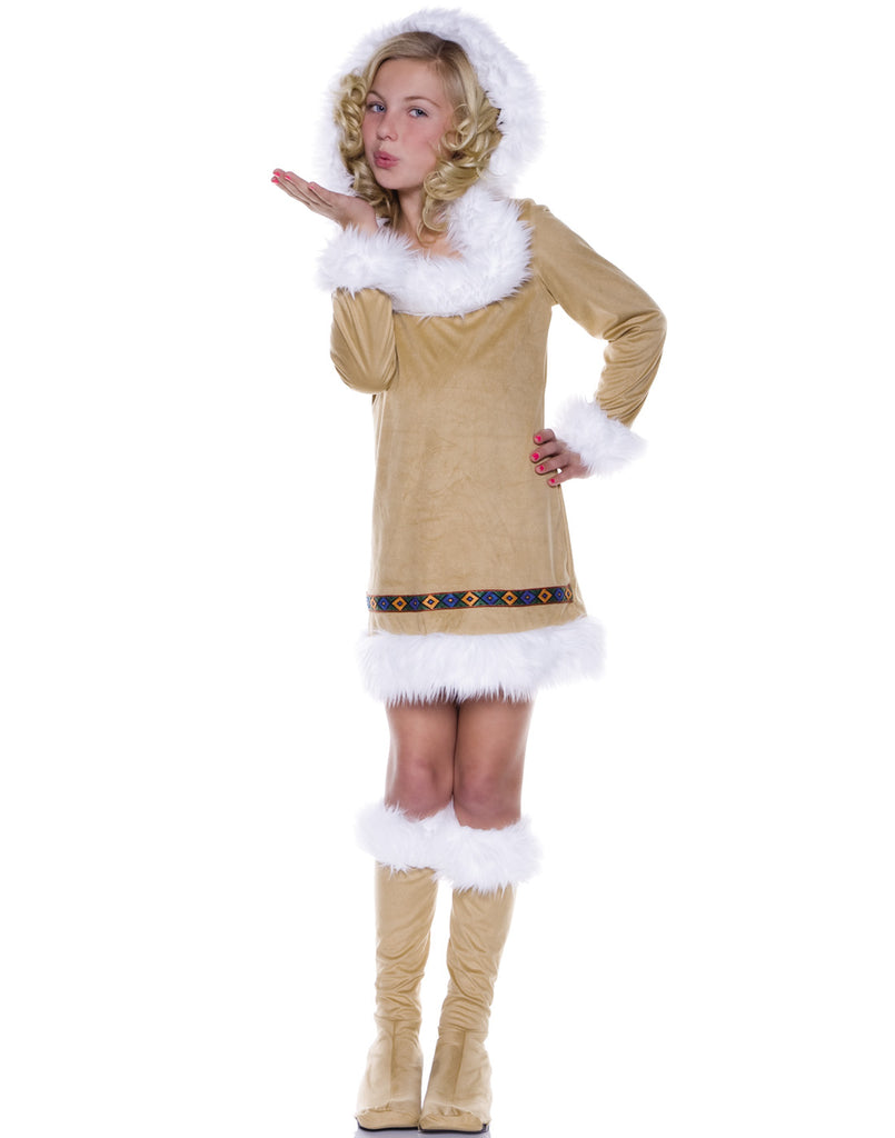 Eskimo Kisses Girls Winter Indian Halloween Costume-L