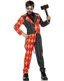Evil Clown Tuxedo Boys Orange Black Halloween Costume