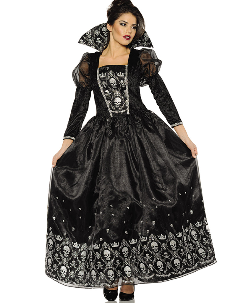 dark queen womens evil victorian gothic halloween costume – costume zoo