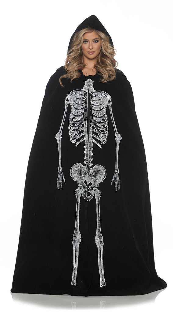 Skeleton Womens Adult Cape