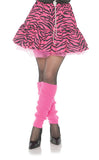 80's Zebra Womens Adult Pink Black Skirt