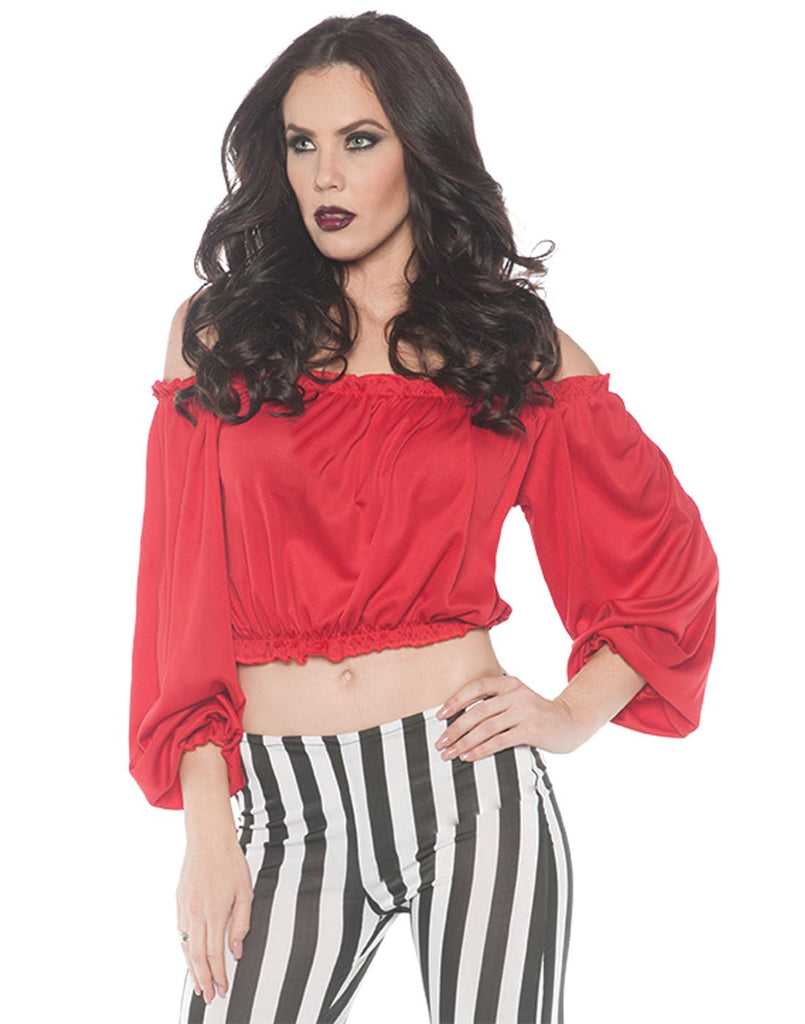 Pirate Womens Adult Red Costume Crop Top