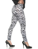 White Zebra Womens Adult Leggings