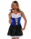 Blue Beer Maiden Womens Costume