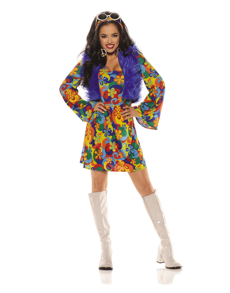Groovy Blue Womens Costumes