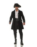 Frock Coat Mens Adult Victorian Costume Black Jacket