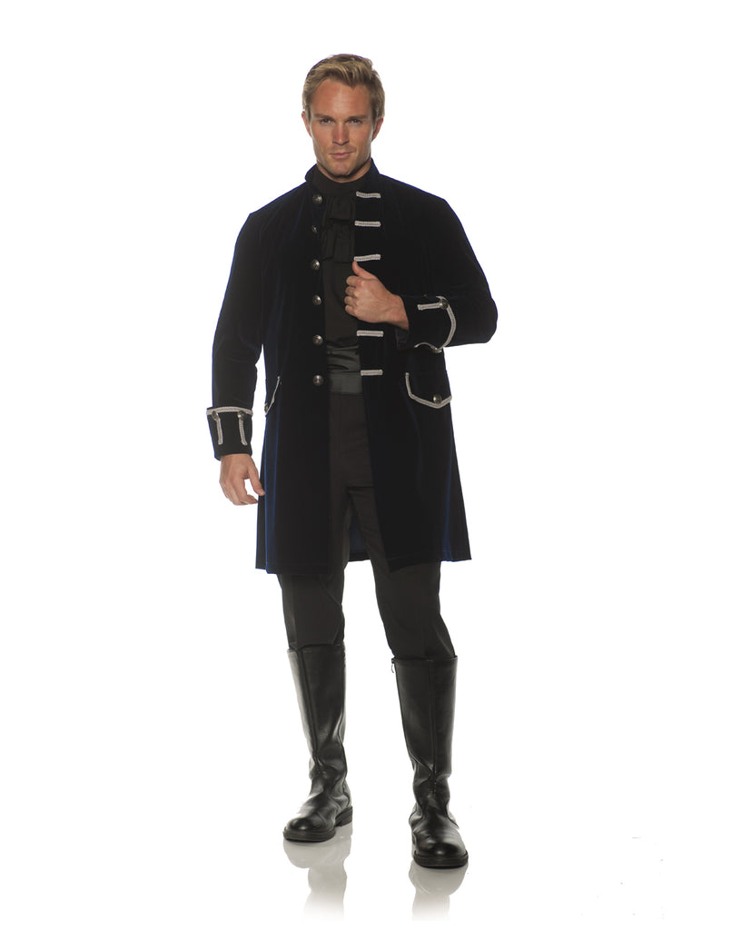 Frock Coat Mens Adult Victorian Costume Navy Jacket