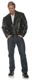 Greaser Mens Adult Black Costume Jacket