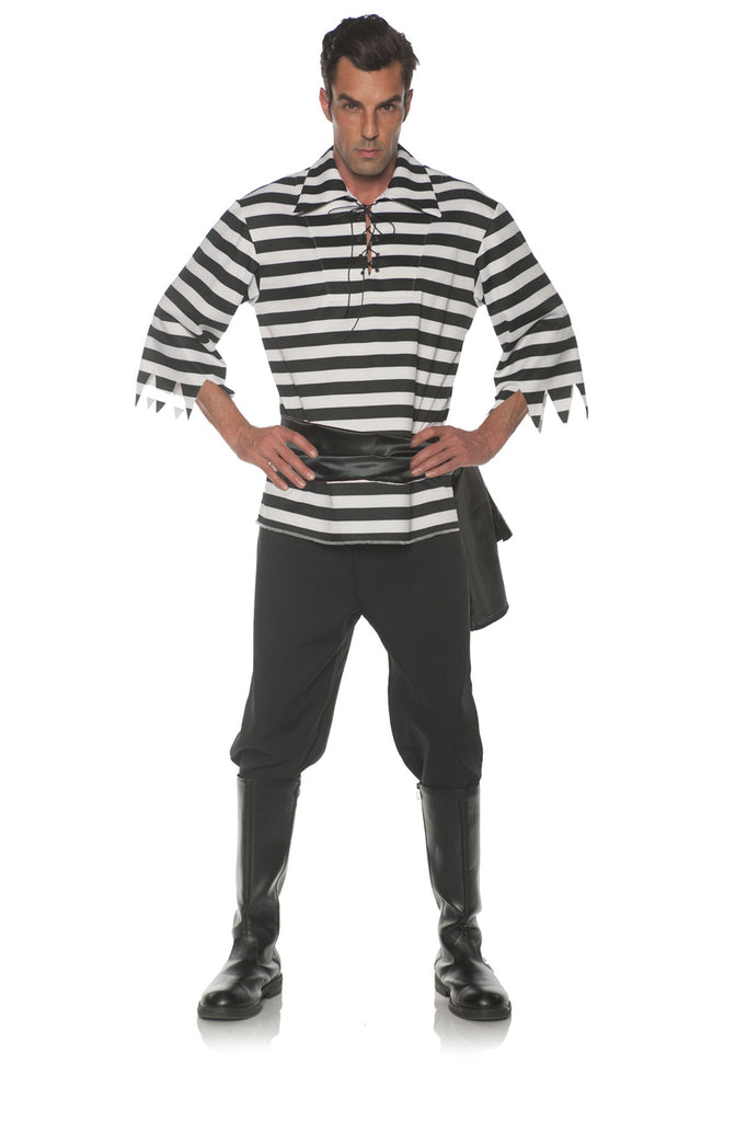 Black White Pirate Mens Adult Costume Set
