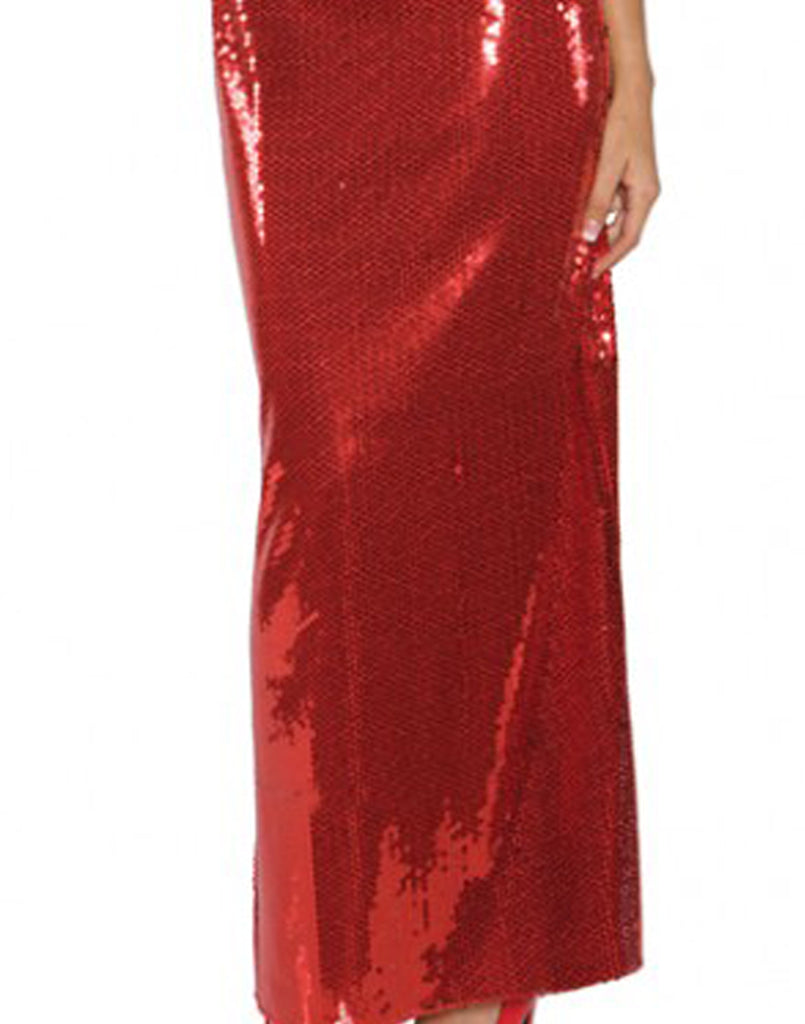 Long Red Sequin Jessica Rabbit Dress
