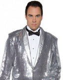 Jazz Disco Sequin Pimp Jacket -Silver