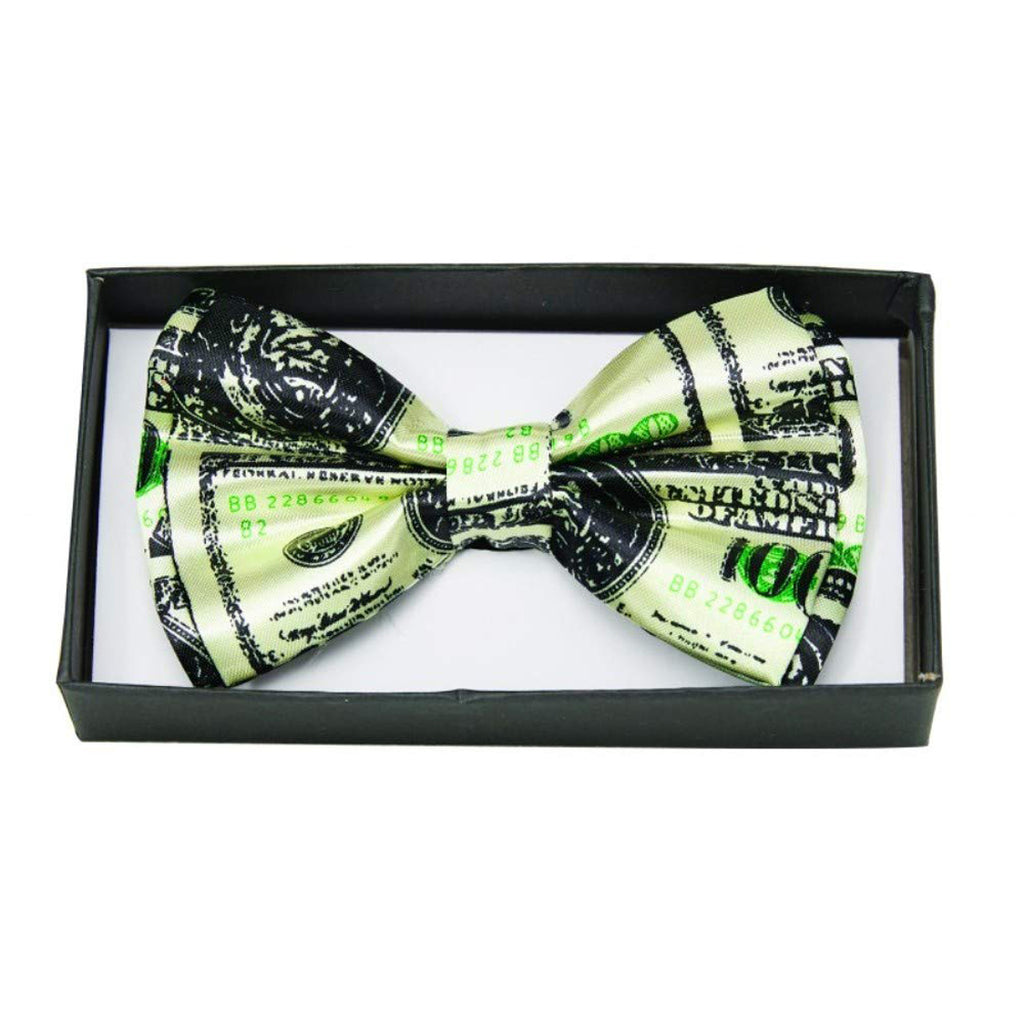 Currency Print Mens Adult Costume Bowtie