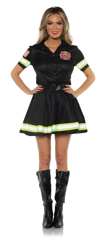 Black Fire Fighter Adult Skirt