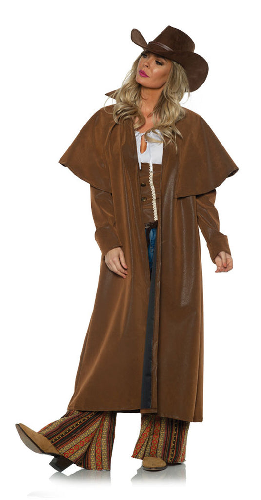 Duster Brown Womens Cowgirl Coat