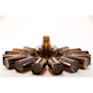 Amber Glass Bottles 10 ml (1/3 oz) No Cap