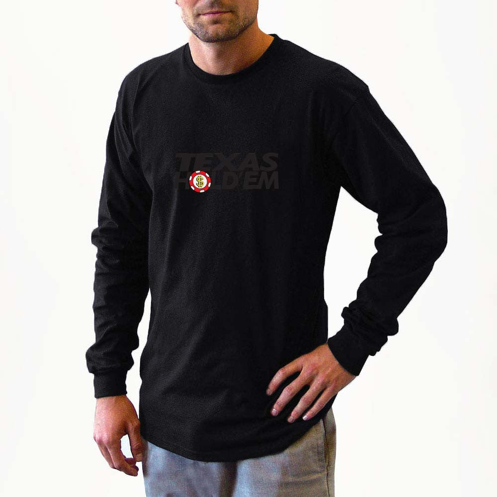 texas hold em long sleeve shirts, long sleeve shirt, shirt, sweater, fall, winter apparel, fall apparel, sweatshirts, sweatshirt, gambler, poker, casino, slots, dice, lucky gambler, lucky gambler shop, lucky gambler clothing, gambling hats, lucky gambler apparel, horse racing, horse racing hats, horse racing, horse racing shirts, horse racing clothing, poker clothing, poker shirts, poker hats, poker games, poker casinos, t shirts, sweat shirts, las vegas, gambling apparel
