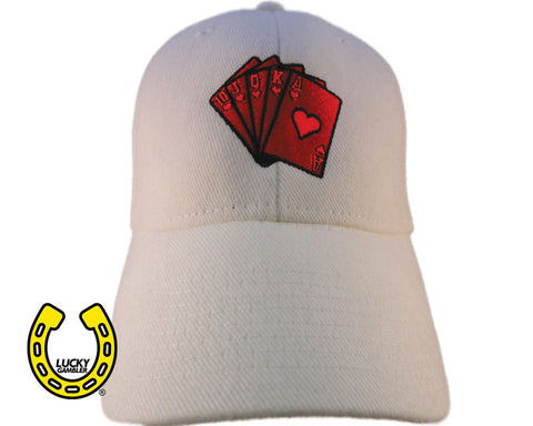 red royal flush, hats, caps, snapbacks, baseball hats, gambling apparel, gambler, poker, casino, slots, dice, lucky gambler, lucky gambler shop, lucky gambler clothing, gambling hats, lucky gambler apparel, horse racing, horse racing hats, horse racing, horse racing shirts, horse racing clothing, poker clothing, poker shirts, poker hats, poker games, poker casinos