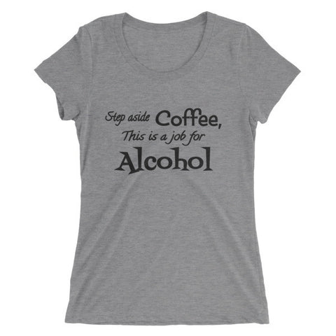 Coffee vs. Alcohol short sleeve t-shirt