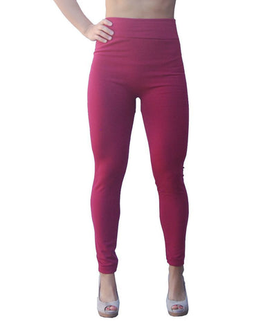 Solid Leggings Burgundy Regular