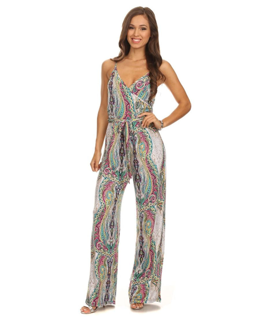 Jumpsuit Romper Paisley Ivory Pink