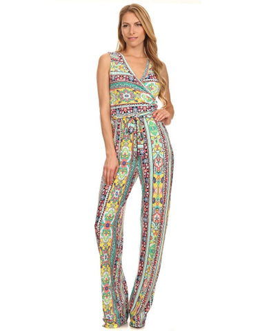 Jumpsuit Romper Aztec Tribal Mint