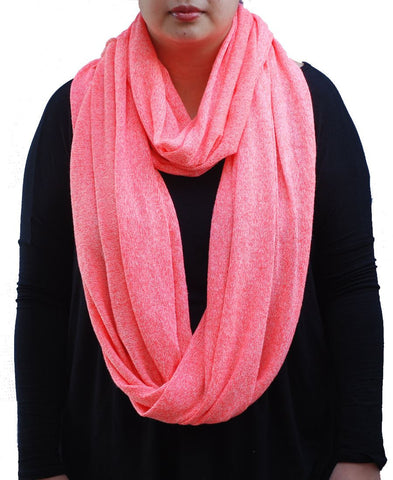 Fashion Scarf Infinity Shawl Heather Coral One Size