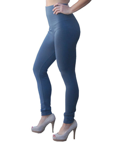 Solid Leggings Gray Regular