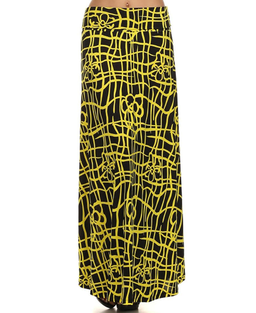 Maxi Skirt Zig Zag Yellow