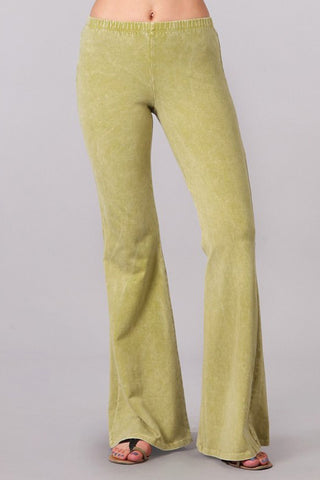 Bell Bottoms Denim Colored Yoga Pants Pear Green