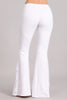 Bell Bottoms Yoga Stretch Pants Flare Lace White