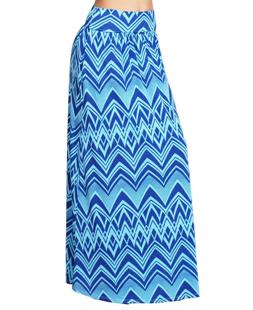 Maxi Skirt Convertible Dress Blue Tribal