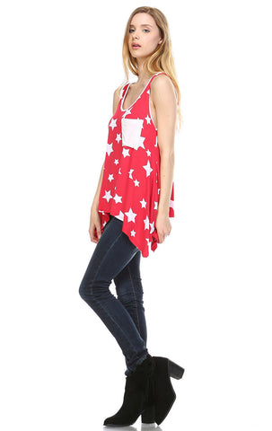 Patriotic Shirt Tank Big Star Patterns Big Star Red White