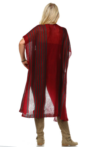 Plus Size Aztec Tribal Poncho Capes Wrap Cardigans Burgundy 1
