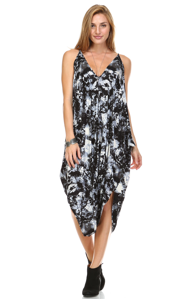 Jumpsuit Romper Cute Tie Dye Black White