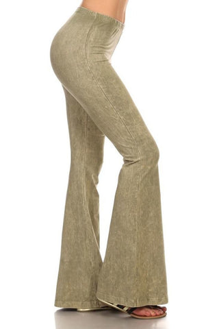 Bell Bottoms Denim Colored Yoga Pants Spring Green