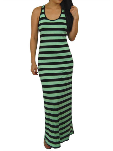 Racerback Maxi Dress Mint Black