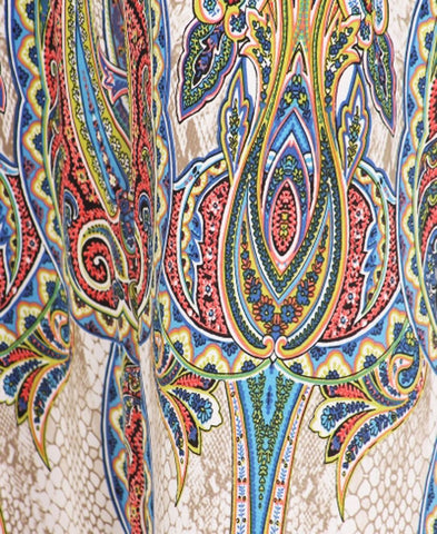 Sleeveless Paris Maxi Dress Sleeveless Paisley Ivory Blue