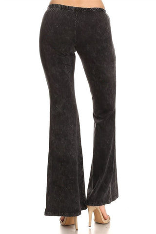 Bell Bottoms Yoga Pants Denim Colored Charcoal Gray