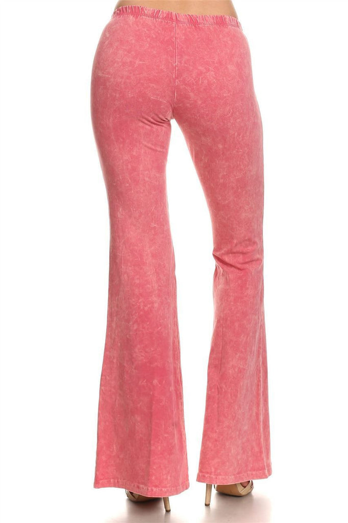 Bell Bottoms Yoga Pants Denim Colored Pink