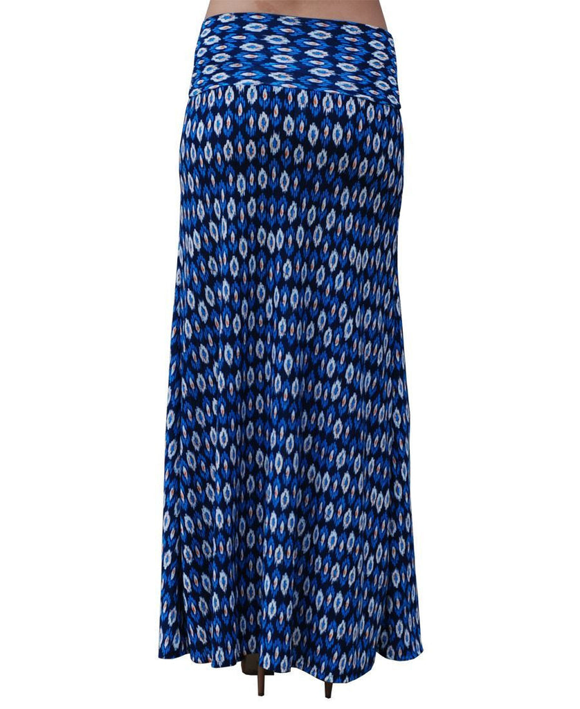 Maxi Skirt Blue Orange Circles